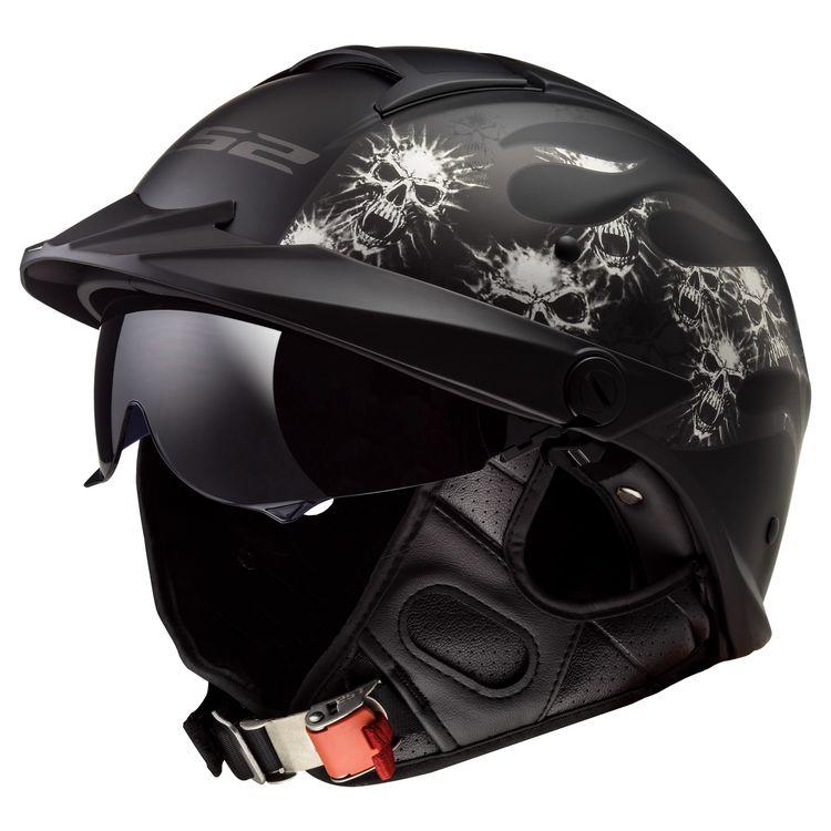 LS2 Rebellion Bones helmet on white background