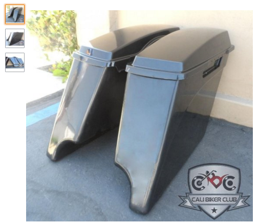 3 Extended Saddlebags with Lids Hard ABS Unpainted Plastic 4 Stretched Saddlebags for Harley Davidson 1994 2013 Automotive