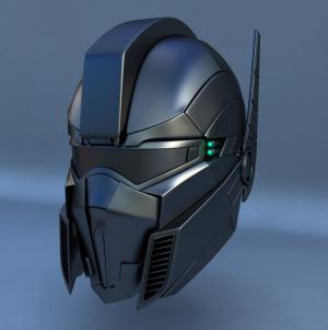 3d max robot futuristic helmet