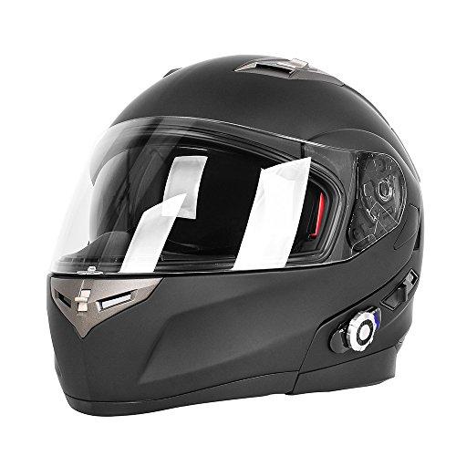 Freedconn Bif01313 Flip Up Dual Visor Full Face Helmet With Built In