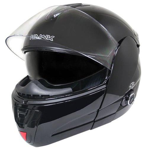 Hawk H 66 Dual Visor Modular Motorcycle Helmet With Bluetooth