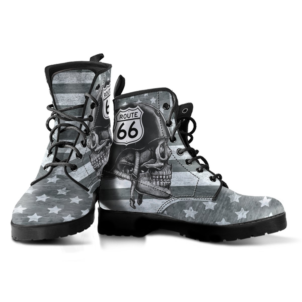 As You Can See A Variety Of Designs Are Offered Flags Skulls And Bikes Several The Favorite Images Used One Pair Boots Features Large Route
