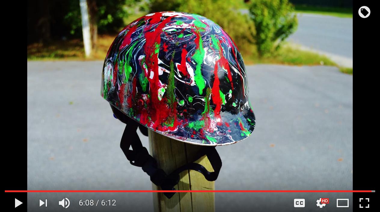 More Swirling (Motor Bike Helmet)