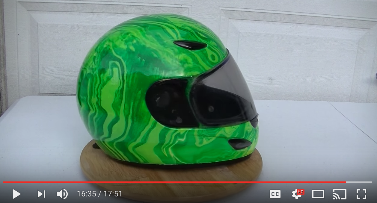 615297ae8c9 How To Swirl Paint a Motorcycle Helmet
