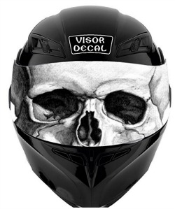 Motorcycle Helmet Visor Decals - Custom vinyl stickers for helmets