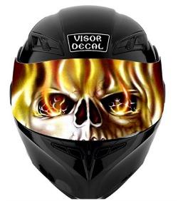 Motorcycle Helmet Visor Decals - Motorcycle helmet decals graphics