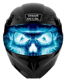 motorcycle helmet visor decals