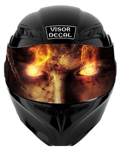 6962b5b0 SF V40 Devil Demon Visor Tint Decal