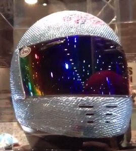 Arai helmet with crystals The Worlds most expensive helmet