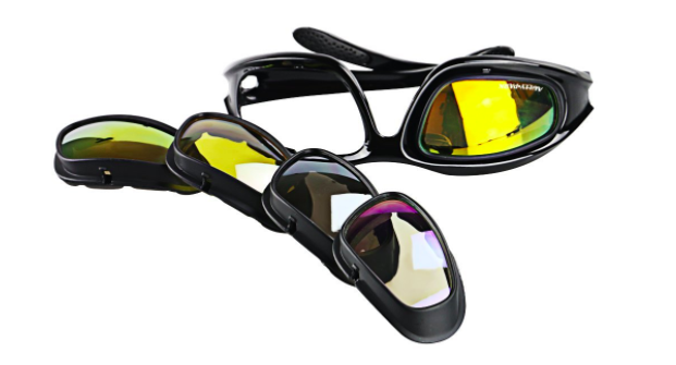 a433656d69c Polarized Motorcycle Riding Glasses Kit with Interchangeable Lenses