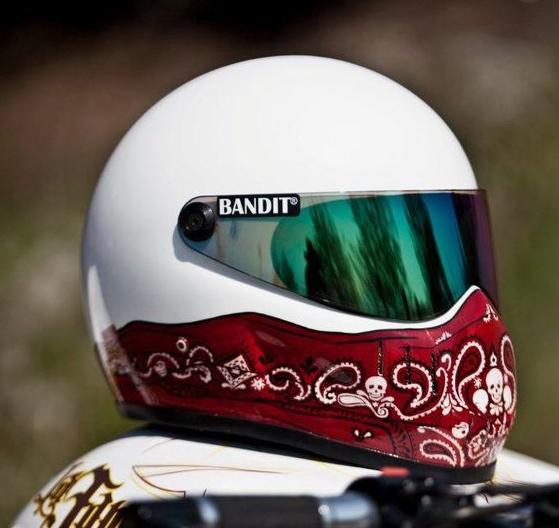 Bandana Style Print Motorcycle Helmets
