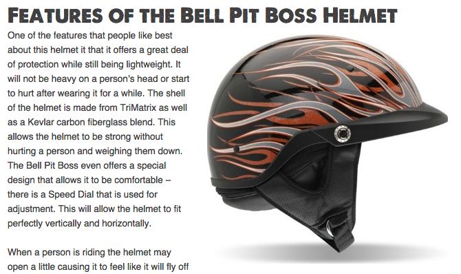 Bell Pit Boss Helmet Review
