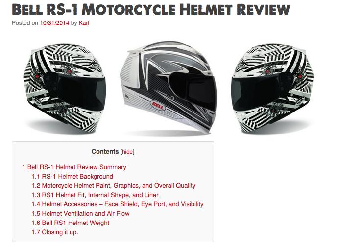 Bell RS 1 Motorcycle Helmet Review