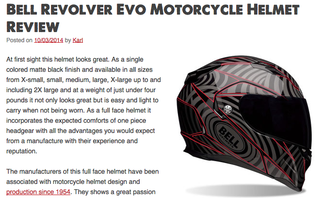 Bell Revolver Evo Motorcycle Helmet Review