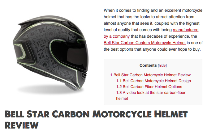 Bell Star Carbon Motorcycle Helmet Review