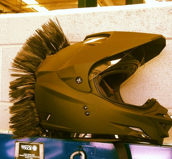 101 Awesome Motorcycle Helmet Mohawks