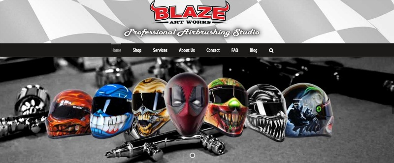 Blaze Artworks Custom Motorcycle Helmets