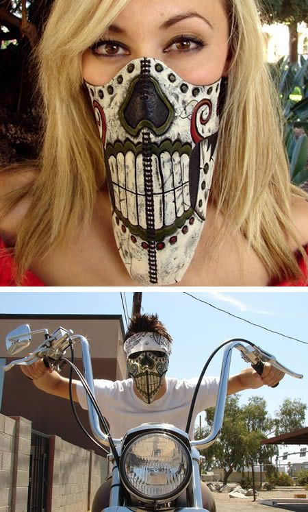 Calavera Loca Motorcycle Riding Mask