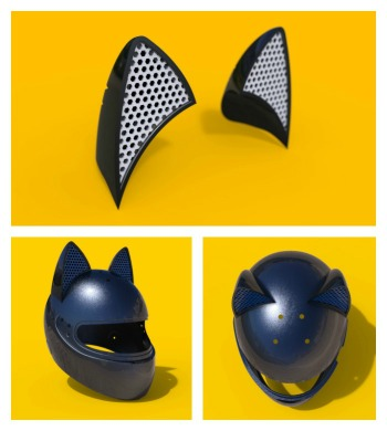The Motorcycle Cat Ear Accessory Can Be Add On Top Of Any Helmet Flexible Rubber With Strength 3m Double Sided Adhesive Attaches This Awesome