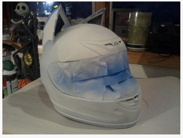 Celty Cosplay Cat Helmet Modification 3