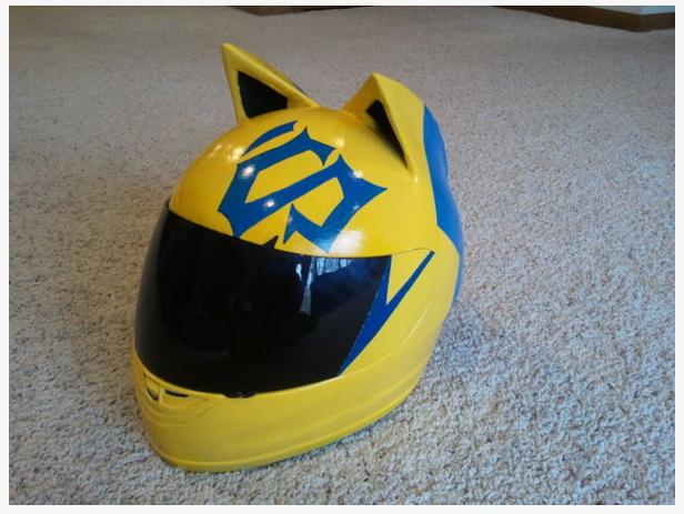 Celty Cosplay Cat Helmet Modification 9