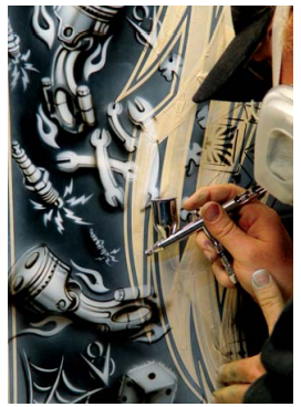 Craig Fraser Mastering Aces n Eights Pistons n Plugs Airbrush Action Magazine