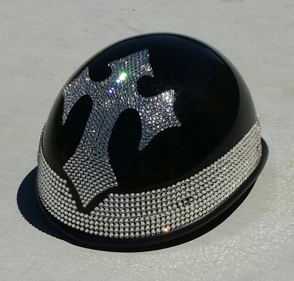 10 Really Shiny Motorcycle Helmets By Custom Bling By Ricci