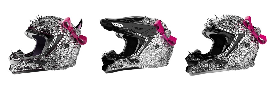 Crystal Helmet Designs How To BLING The Crap Out Of Your Helmet - Motorcycle helmet decals for women