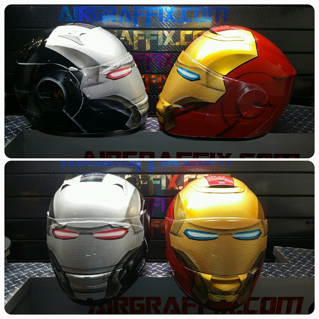iron man motorcycle helmets. Black Bedroom Furniture Sets. Home Design Ideas