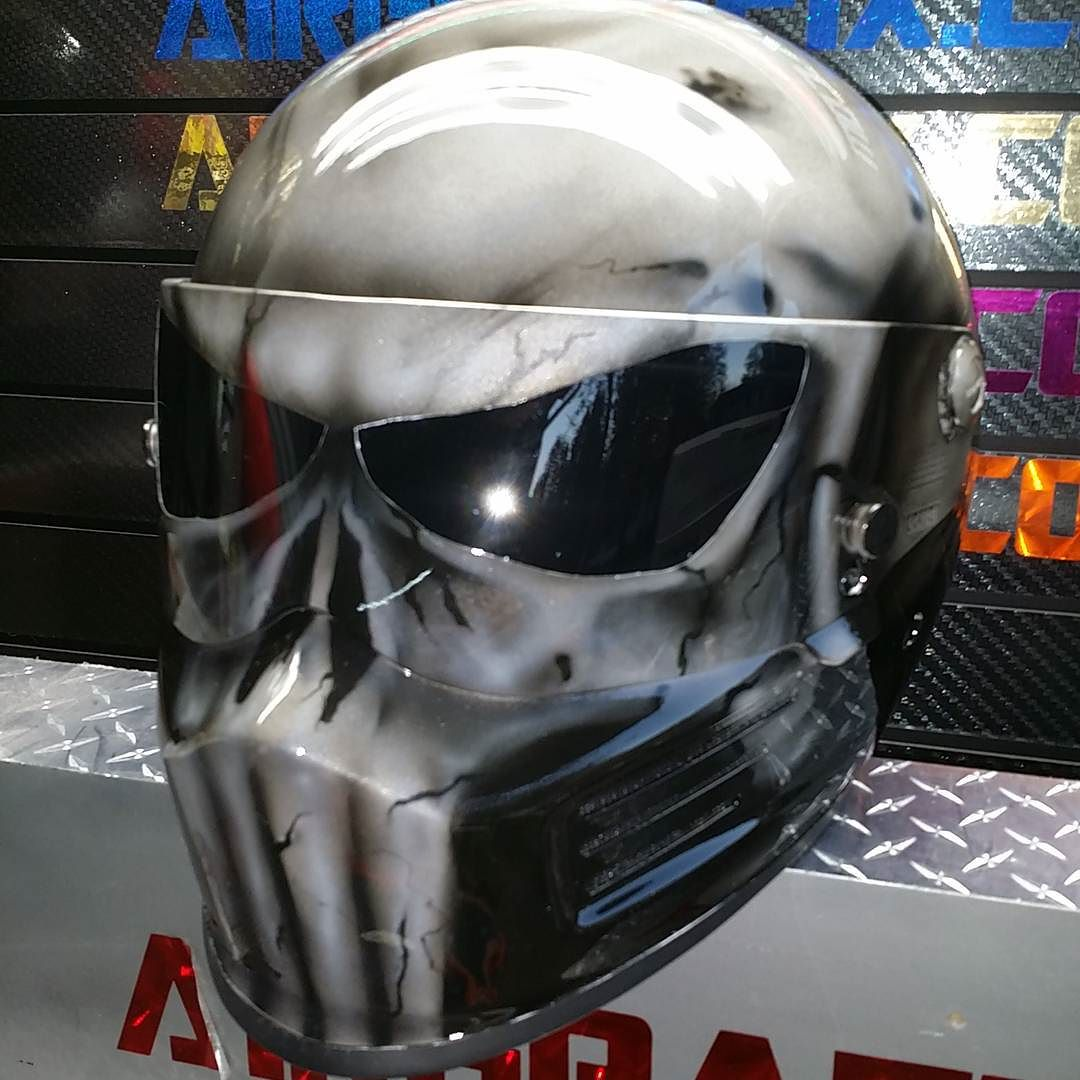 Custom Airbrushed Motorcycle Helmets by Airgraffix - My ...