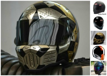 Custom Bandit Motorcycle Helmet collage