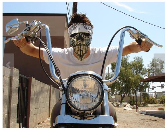Custom Calavera Loca Motorcycle Riding Mask