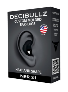Custom Molded Earplugs Perfect Fit Ear Protection for Safety Travel Work Shooting