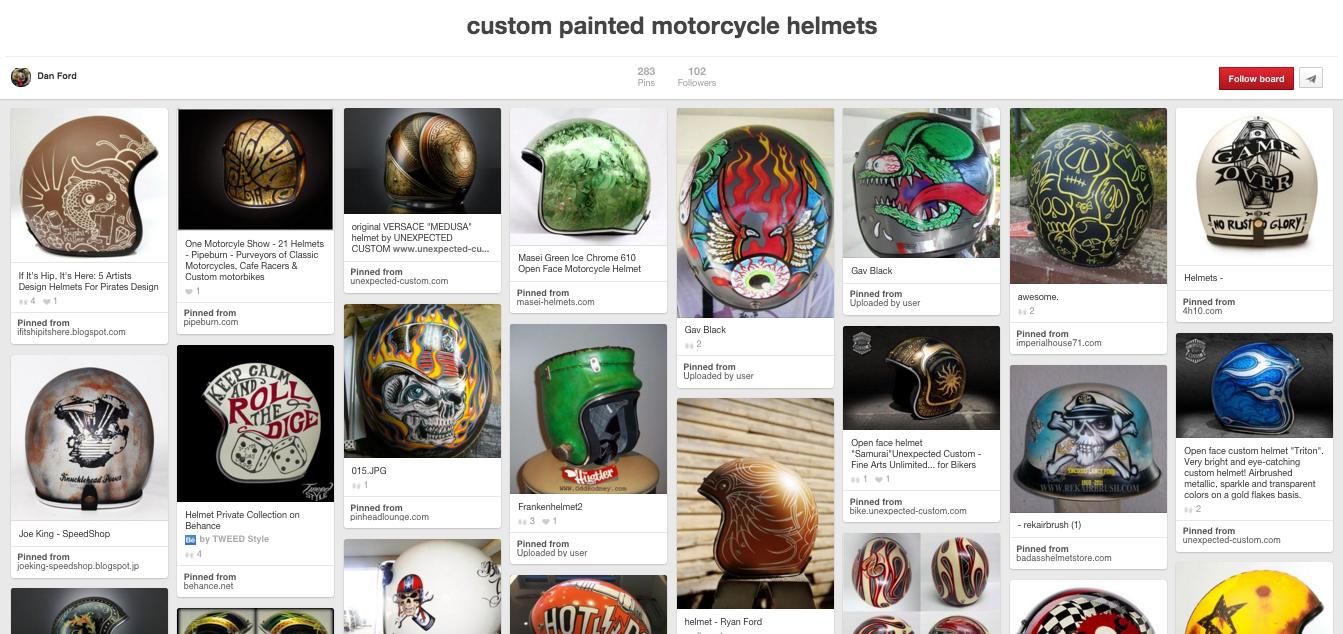 Custom Painted Motorcycle Helmets