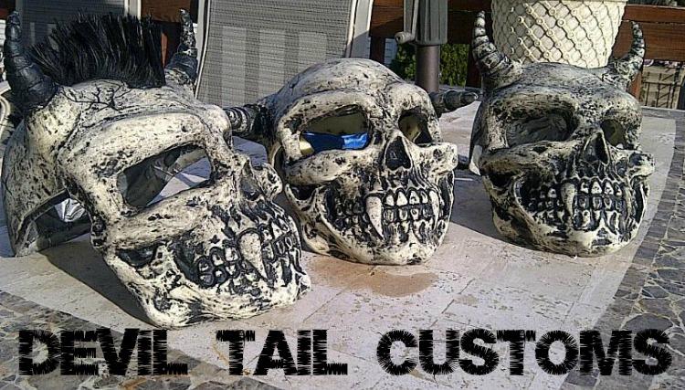 Custom Skull Design Art Motorcycle Helmets