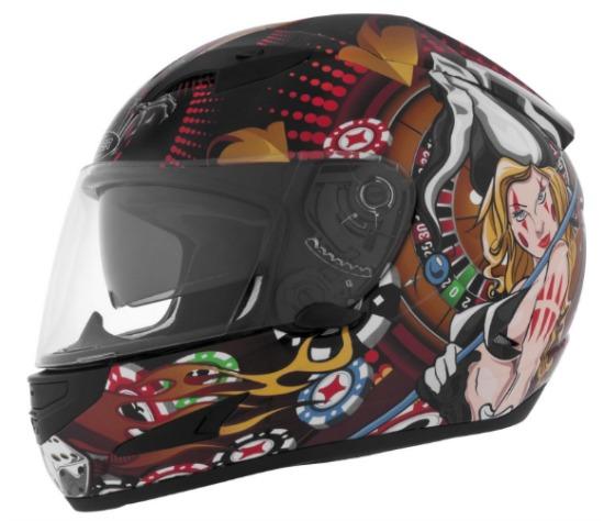 Cyber Helmets Lethal Design US 97 Poker Girl Helmet