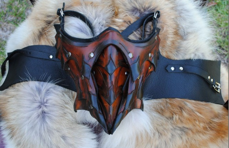 Dragon Slayer s Lower Half Mask by EpicLeather on Etsy
