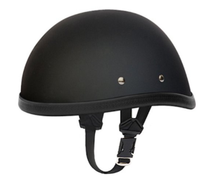 Flat Black Skull Cap Novelty low pro Motorcycle Helmet