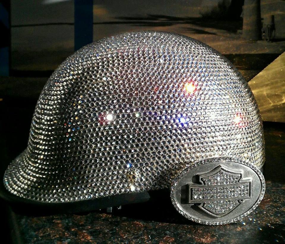 10 REALLY shiny Motorcycle Helmets by Custom Bling by Ricci 3e8b4295b3d