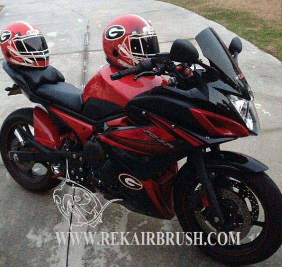Georgia Football Motorcycle helmets photo by rekairbrush