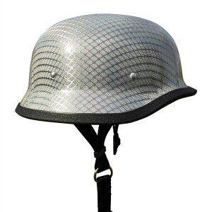 German Carbon Fiber Chrome Mesh Helmet