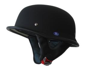 German Motorcycle Half Helmet DOT Low Profile Matt Black
