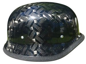 German Motorcycle Helmet Black Textural Carbon Fiber10