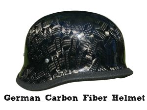 German Motorcycle Helmet Black Textural Carbon Fiber11