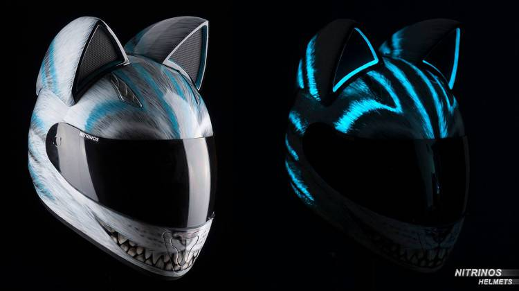 Buy Cat Ears For Motorcycle Helmet