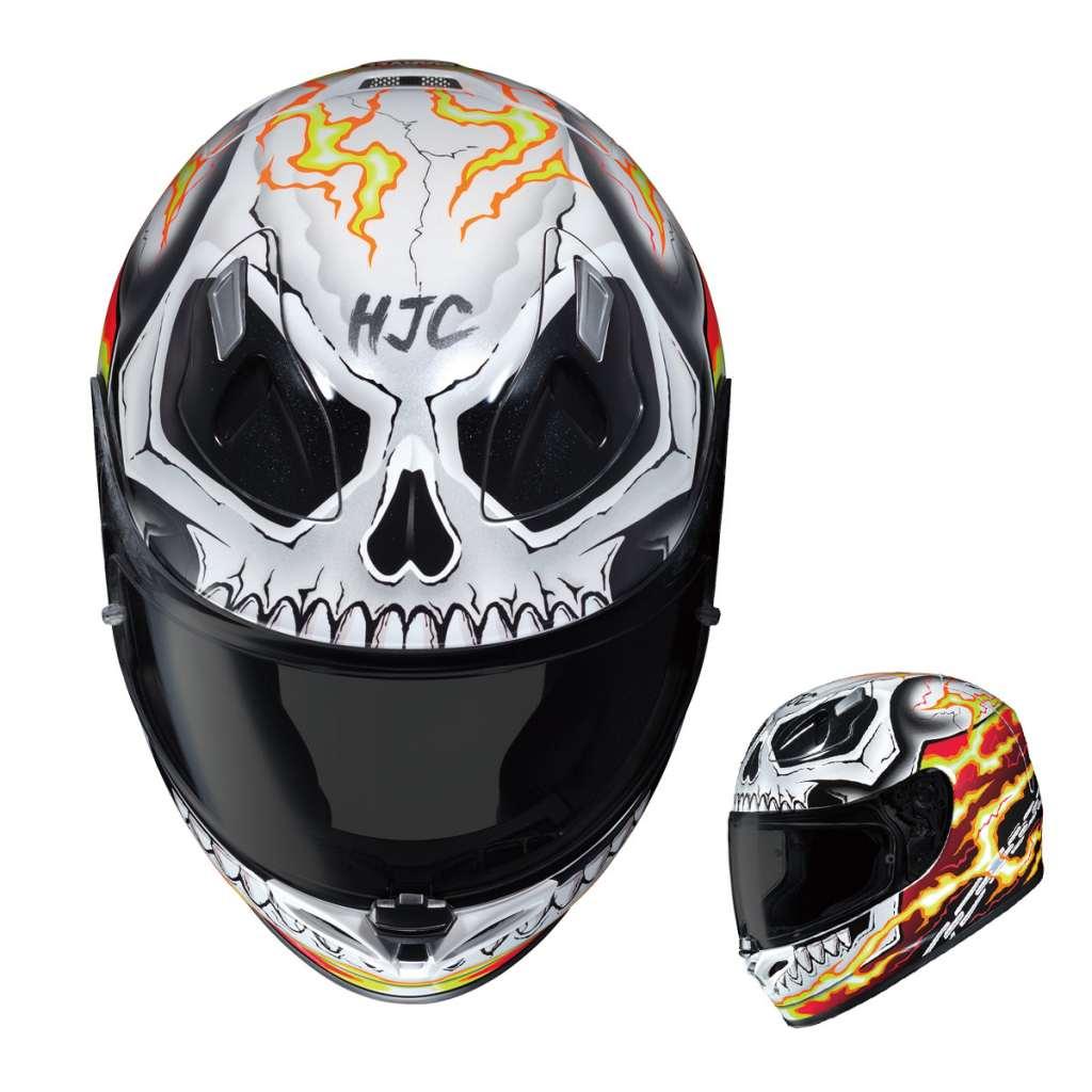 Hjc Fg 17 >> Ghost Rider Motorcycle Helmet