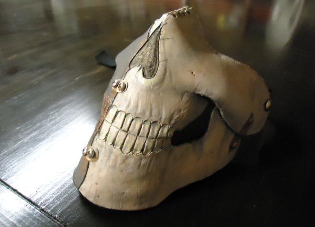 Handmade Leather Cyborg Skull Mask by BKcustomworks on Etsy
