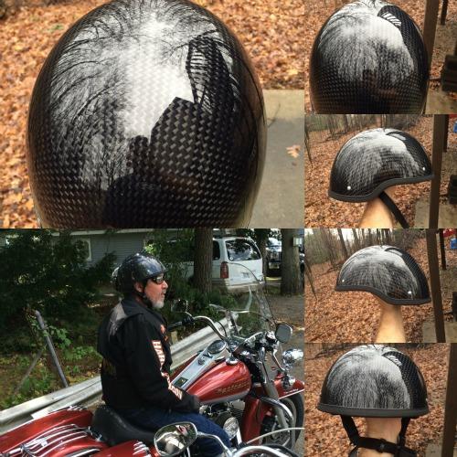 Harley Davidson Helmet REAL Carbon Fiber Novelty Helmet