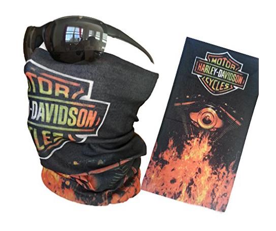 Harley Davidson Motor Head Face Mask Tube Bandana Balaclava Biker Mask Multi Function Tactical Seamless