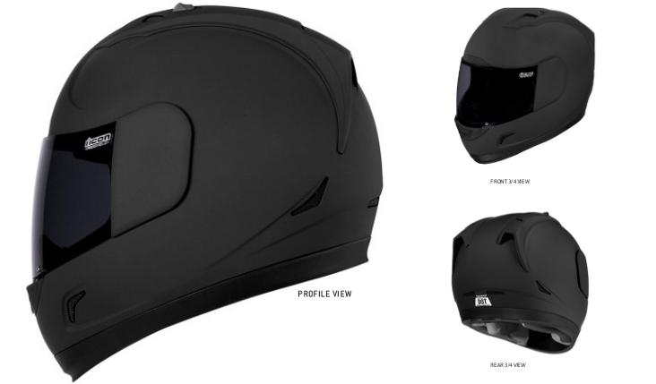 Icon Alliance Dark Helmet 3 views